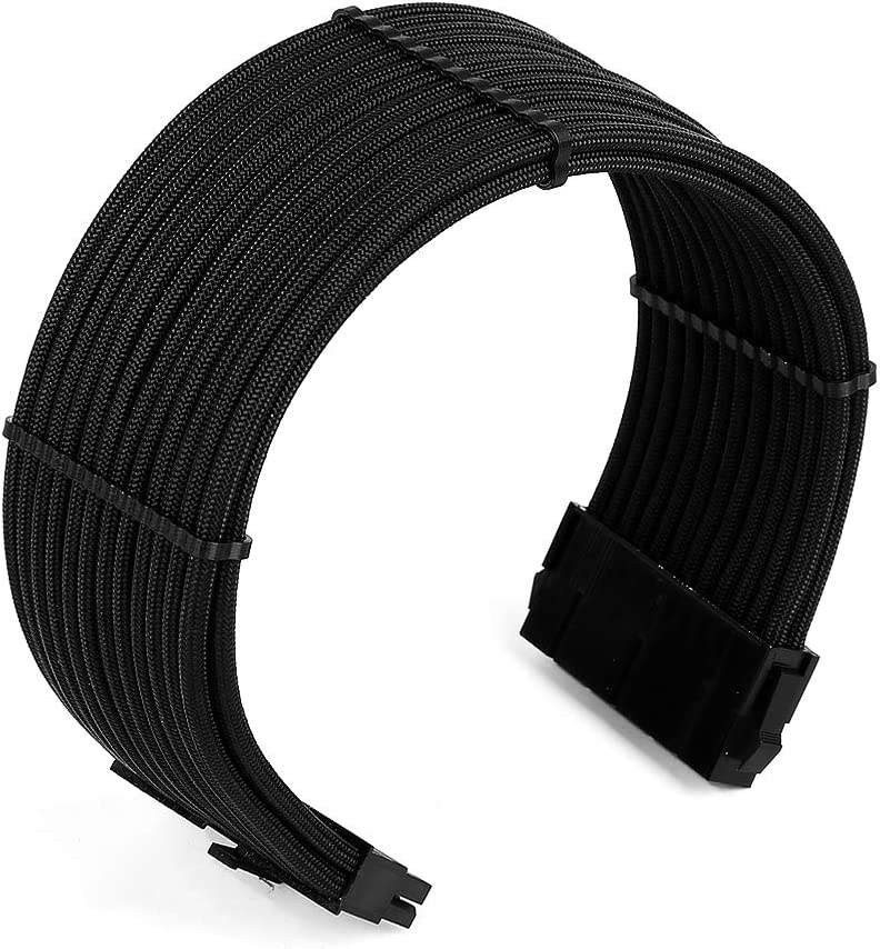 w//Combs Black Gray Antec Power Supply Cable Extension Kit ATX EPS 8-pin PCI-E 6-pin PCI-E