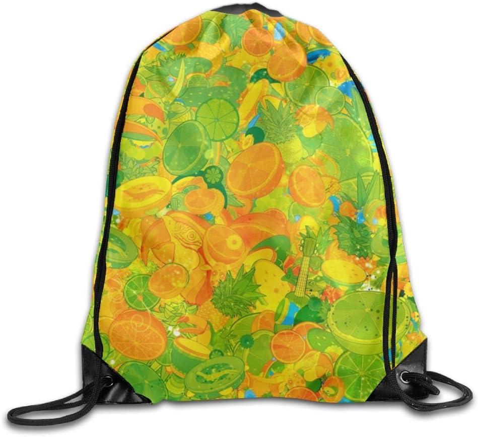 VIMUCIS Fruits Drawstring Backpack Rucksack Shoulder Bags Training Gym Sack For Man And Women