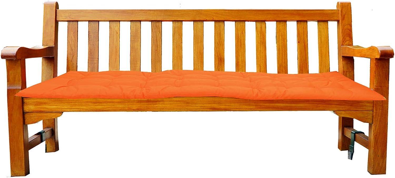 120 cm x 40 cm x 4 cm cuscino per panchina da giardino cuscino per panca da giardino Jemidi Cuscino per panchina