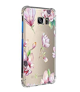 Teryei kompatibel mit Hülle Galaxy S7/s7 Edge TPU Silikon Stoßfänger Hülle Tasche Handyhülle Clear Ultra dünn Silikonhülle Du