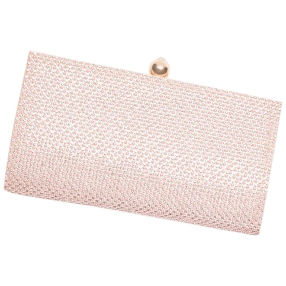 Crystal Clutch with Satin Back Style S2371FJ, Blush