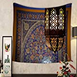 Lee S. Jones Custom tapestry lantern lamp in a traditional islamic style