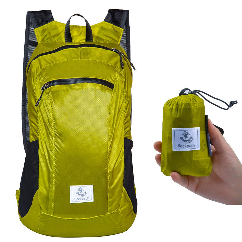 4monster Durable Packable Backpack Ultra Lightweight Water Resistant Travel Hiking Foldable Outdoor Daypack, 24L