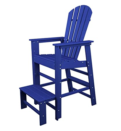 POLYWOOD SBL30PB South Beach Lifeguard Chair Pacific Blue  sc 1 st  Amazon.com & Amazon.com : POLYWOOD SBL30PB South Beach Lifeguard Chair Pacific ...