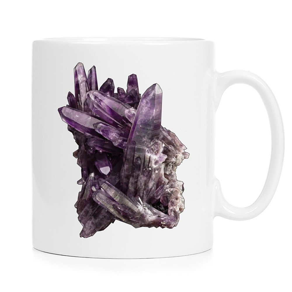 tea /& hot chocolate Full Color 12 oz Amethyst Geode Crystal 02 Ceramic Mug sublimation printing perfect for coffee