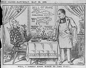 Amazon.com: Photo: Uncle Sam, McKinley, Bill of Fare, 1898 ...