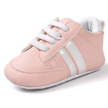 2eeee058b31d4 Zapatos De Bebé Zapatillas Deportivas para bebés recién Nacidos Primeros  Pasos Calzado Deportivo de Cuero Antideslizante