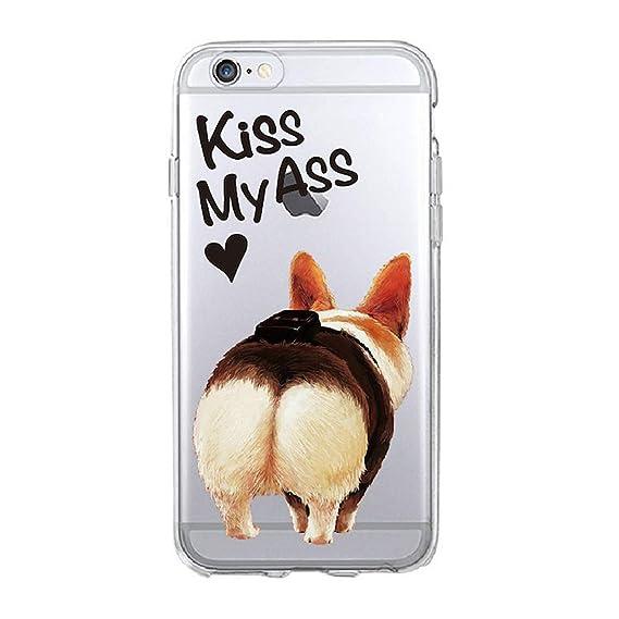 Amazon.com: Cute Corgi Butt Animal Puppy Soft Clear Phone ...