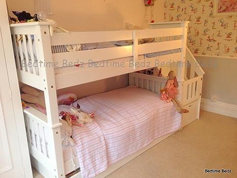 Bedtime Bedz Chester Blanco Escalera litera Cama: Amazon.es: Hogar