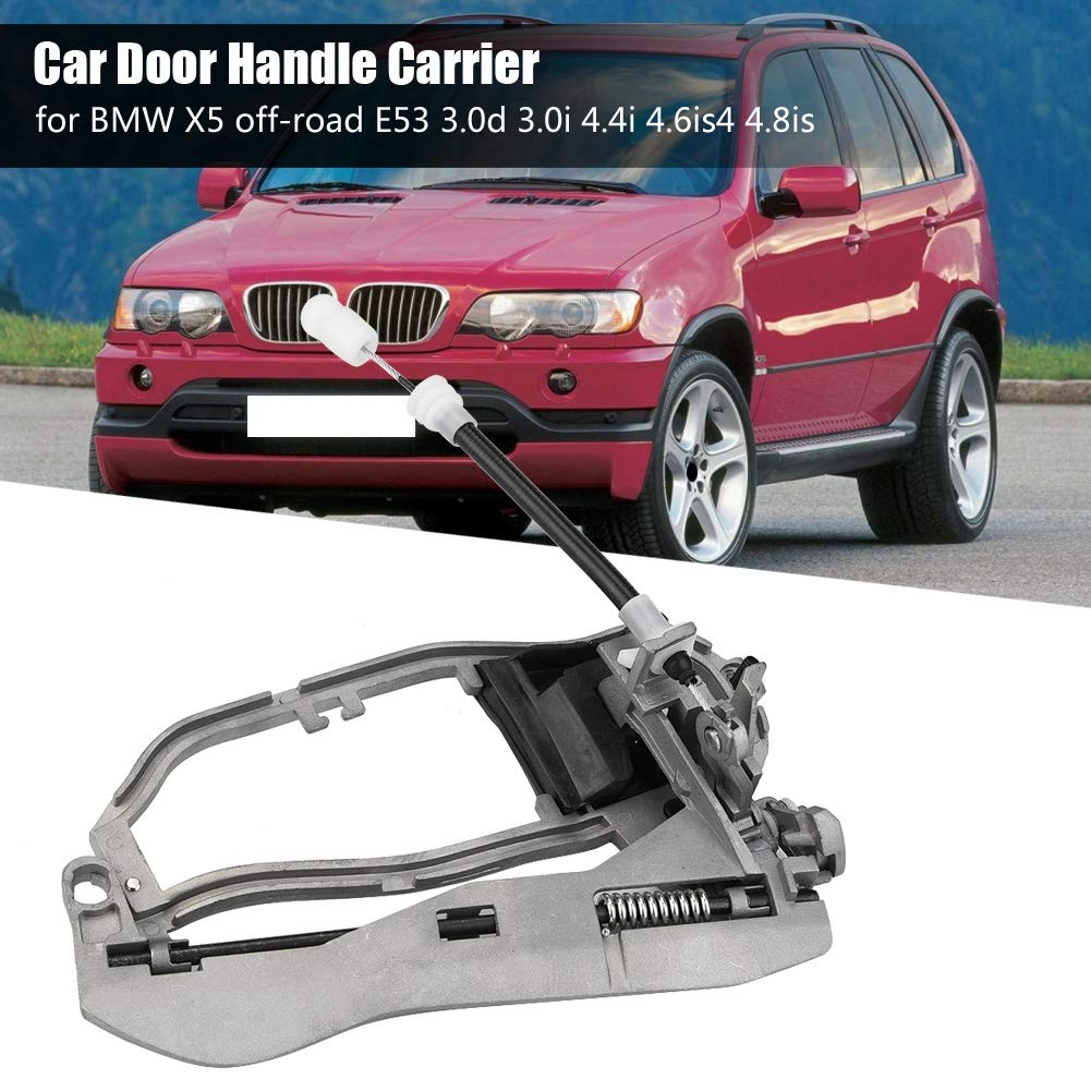 BM W E53 Door Handle Carrier Rear Right Zinc Alloy Car Exterior Door Handle Carrier Bracket for BM W X5 Off-road E53 3.0d 3.0i 4.4i 4.6is4 4.8is 2000-2006