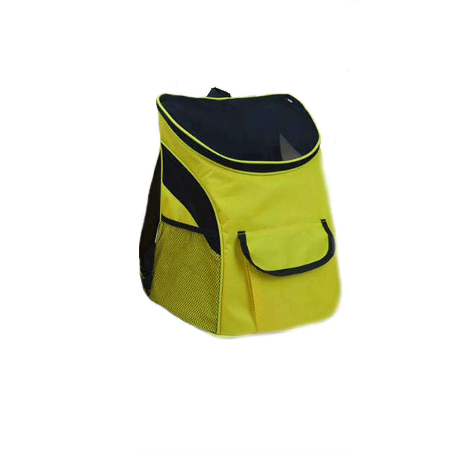 Dog Backpacks Pet Backpack Cat Bag Dog Bag Out Pack Travel Portable Backpack Schoolbag Breathable Mesh Cloth Outcrop Chest,Yellow,L