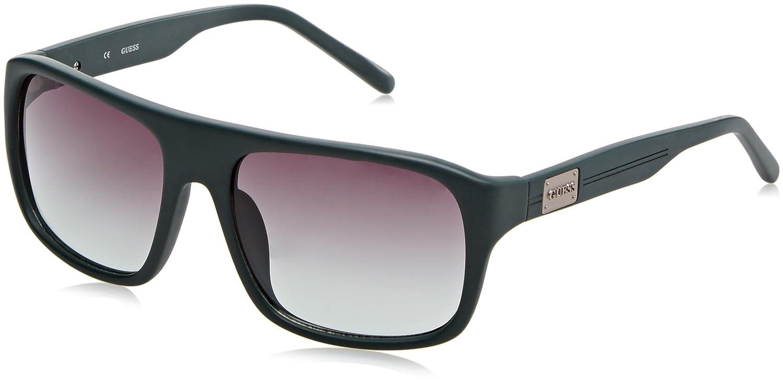 Guess GU0116F_I55 Gafas de Sol, Verde, 58 para Hombre
