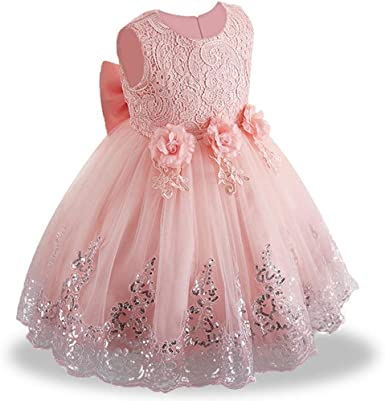 UK Summer Sleeveless Sequined Flower Princess Bridesmaid Wedding Party Dress New