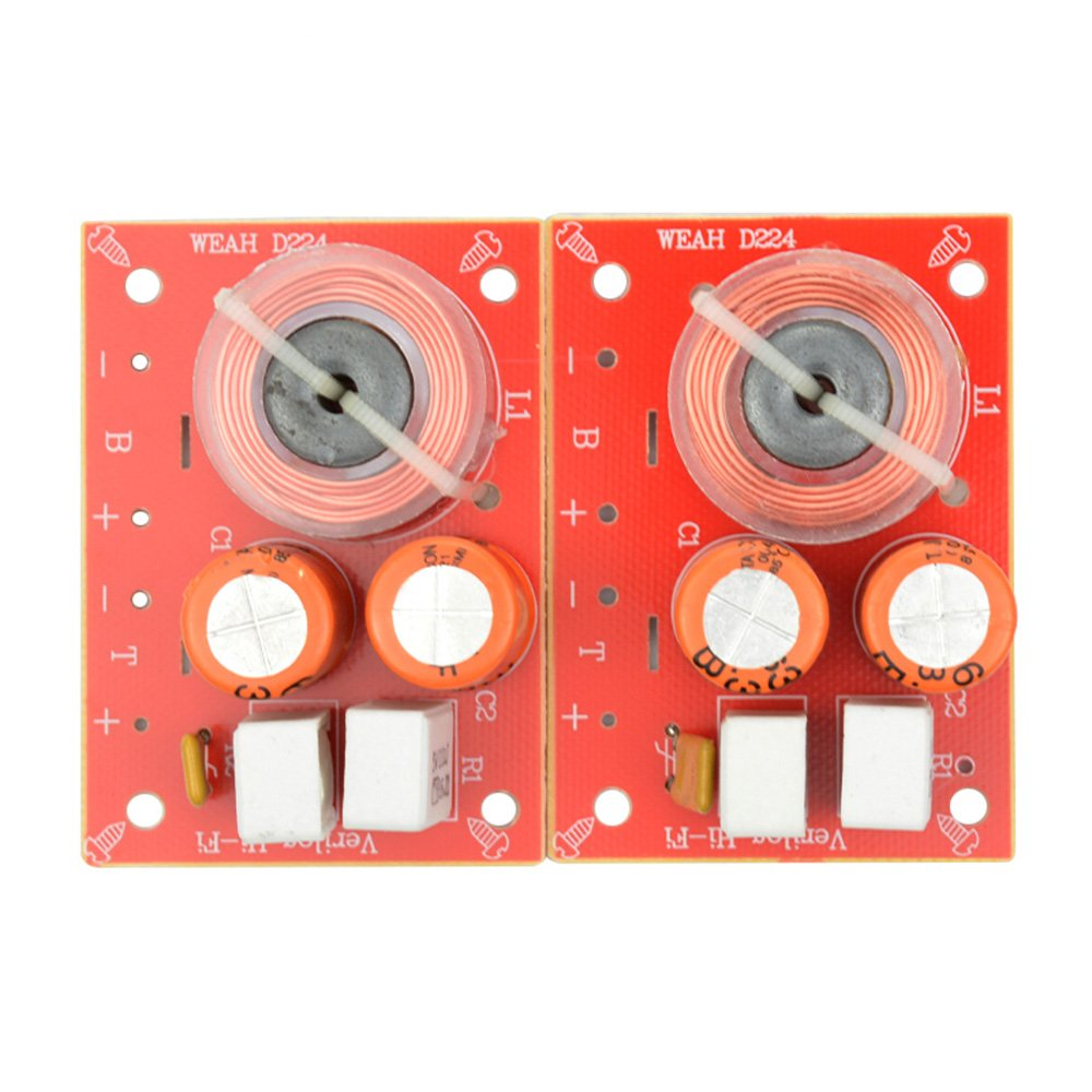 Aiyima 2pcs 2 Way 2 Unit Hi-Fi Audio Speaker Frequency Divider Stereo Crossover Filters