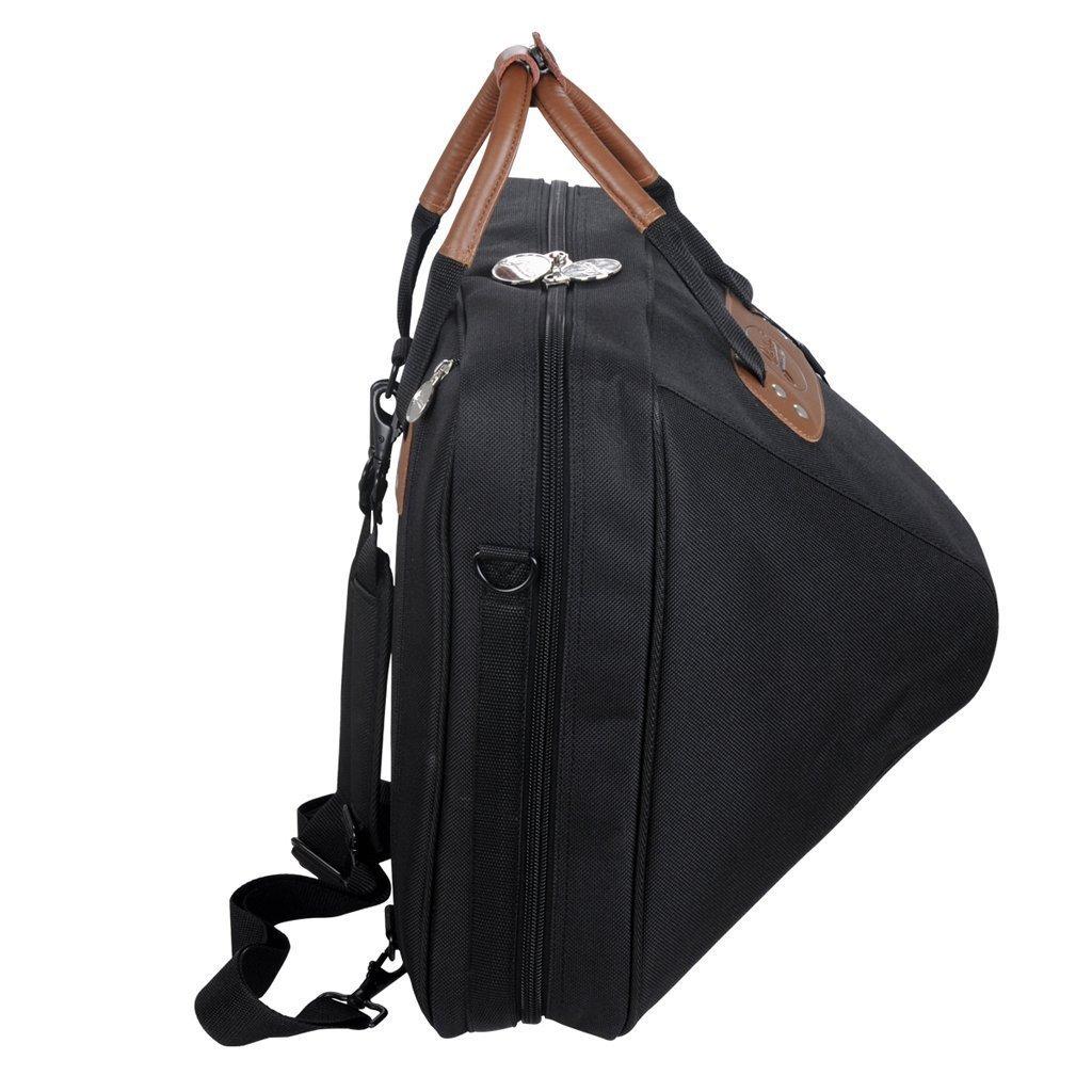 Jinchuan Deluxe French Horn Gig Bag Case Light Weight High Density Foam Padding E-6A Black by Jinchuan (Image #6)