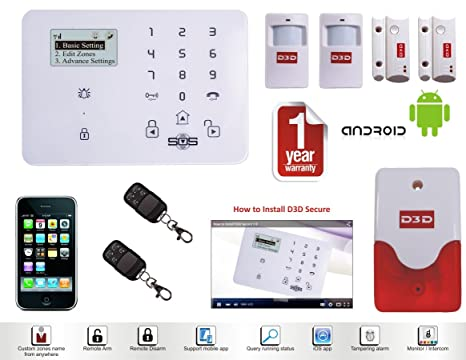 Wireless LCD RFID GSM Auto Dial Casa Casa Oficina antirrobo ...