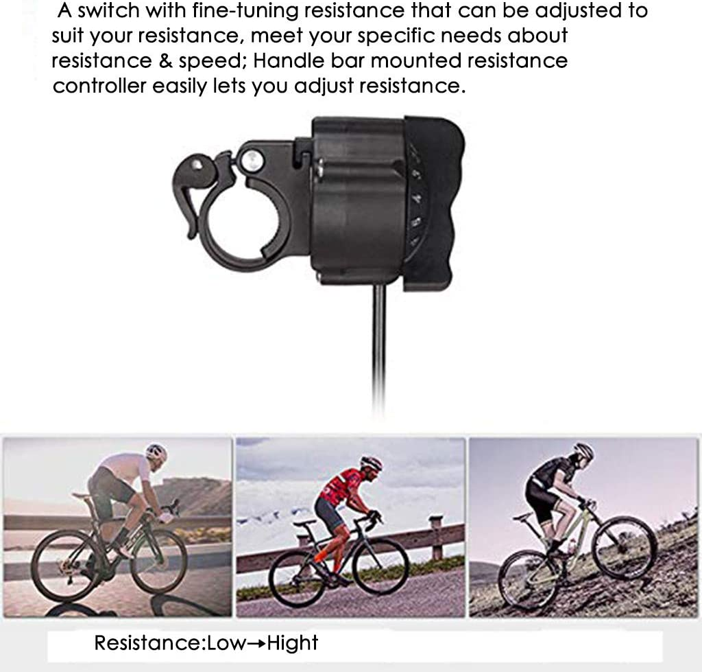 Bike Stand A-Fine-tuning remote control, Black Fitness Cycling Magnetic Stationary Stand Exercise Reluctance Training Rack Parking Rack+Front Wheel Pad,Quick Release,for Wheel Diameter 24i-29in