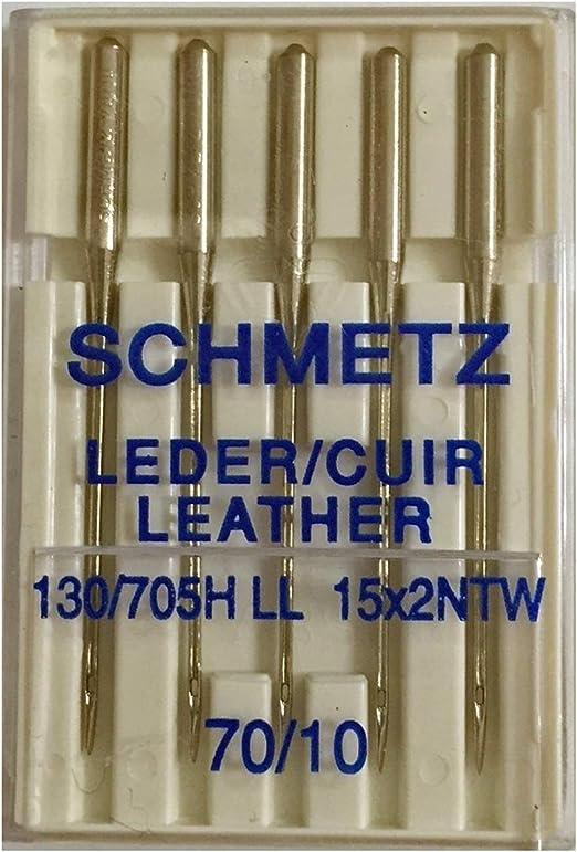 SCHMETZ / Aguja Maquina para Coser Cuero Nº 70-80 - 90-100 - 110-120 - 120: Amazon.es: Hogar