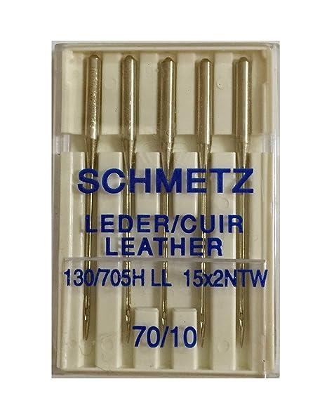 Schmetz / Aguja Maquina para Coser Cuero Nº 70-80 - 90-100 - 110-120 - 70: Amazon.es: Hogar