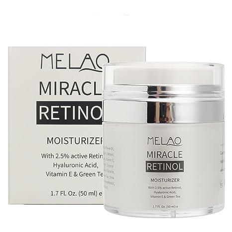 Bluelover Melao Retinol Crema Hidratante Facial Suero Anti Arrugas Envejecimiento Ácido Hialurónico Vitamina E Piel