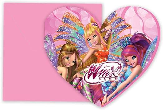 Winx Club Invitation Cards 6 Pieces Sirenix Children