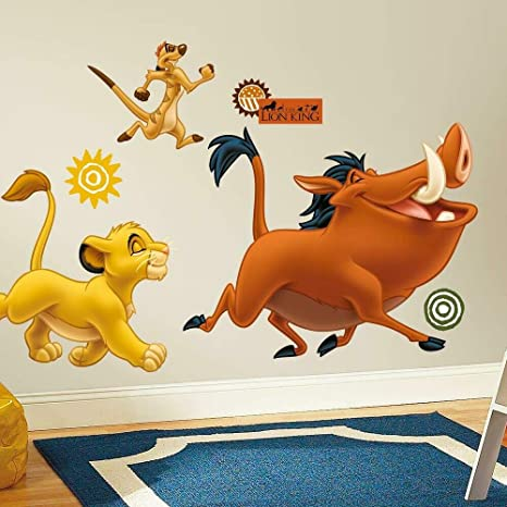"""Timon and Pumba Lion King 3/"""" Wide Vinyl Decal Sticker BOGO"""