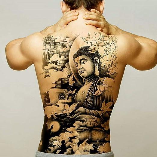 Handaxian 2pcsman Tatuaje Pegatina Cuerpo Arte Impermeable Espalda ...