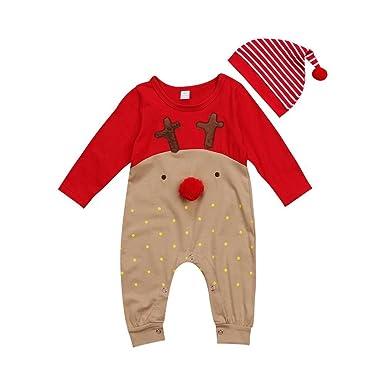 BAOBAOLAI Xmas Outfits for Newborn Baby Girls Boys My First Christmas  Romper + Stripe Pants Set - Amazon.com: BAOBAOLAI Xmas Outfits For Newborn Baby Girls Boys My