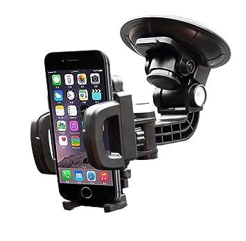 iVoler Soporte Movil Coche con Ventosa para Parabrisas/Salpicadero de Coche, Giro 360 Grados para Teléfonos ...
