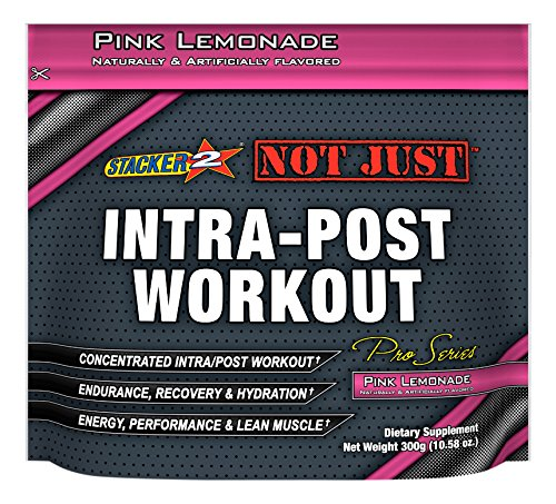 Stacker 2 Not Just Intra-Post Workout Pro-Series Energy Jug, Pink Lemonade, 300 Gram