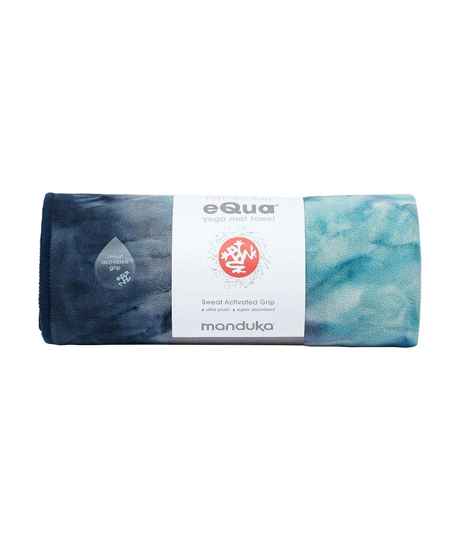 Manduka eQua - Toalla para Esterilla de Yoga, Absorbente, de Secado rápido, Antideslizante para Yoga, Gimnasio, Pilates, Fitness al Aire Libre