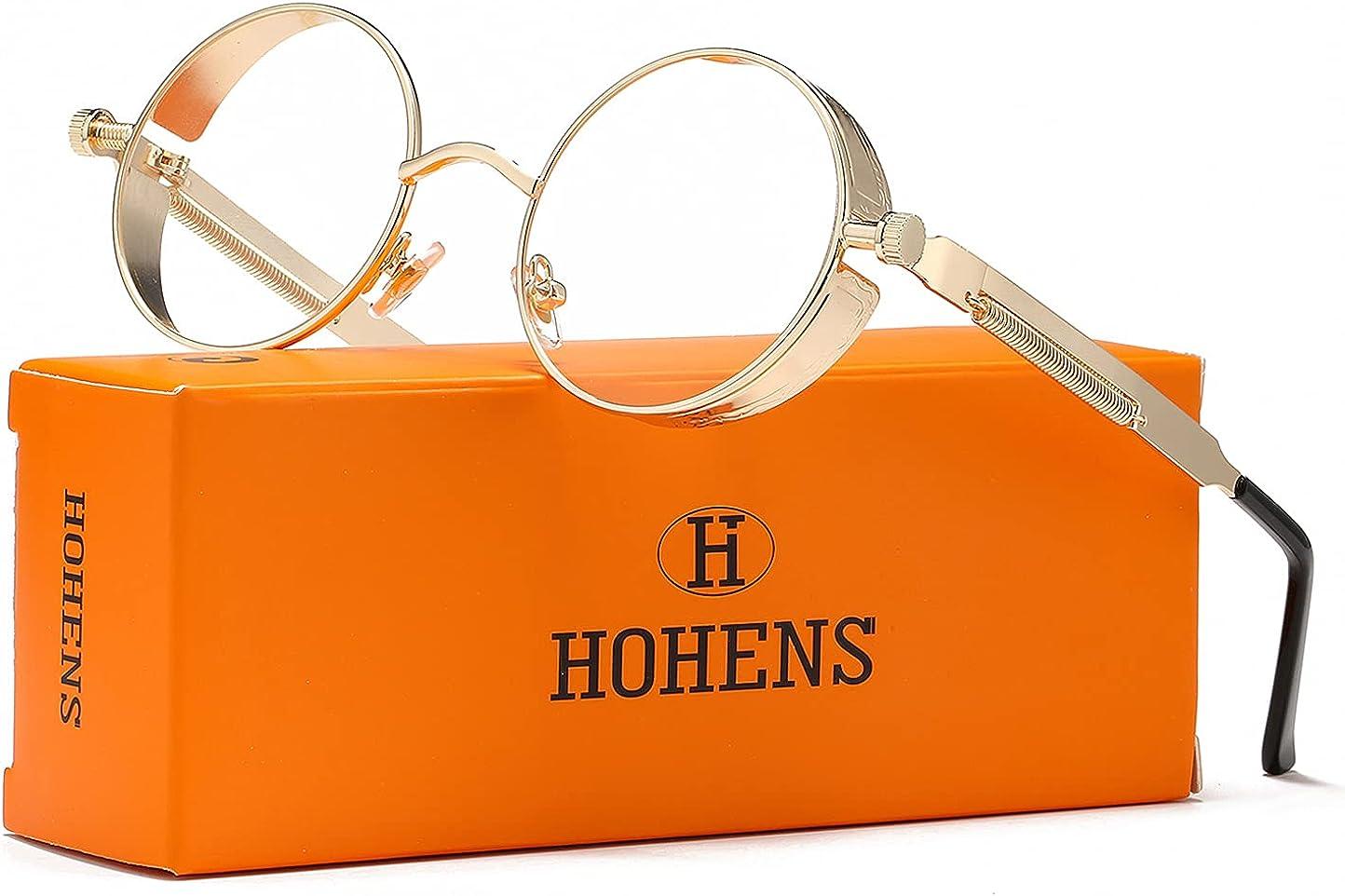 Mens Womens Vintage Spring Hinges Glasses Eyewear Polarised Sunglasses Round 002