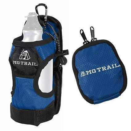 ペットボトルホルダーカバーVer.2.0【MGTRAIL】登山リュックベルトに装着ケージポケットに入るドリンクホルダー水筒折りたたみ傘も収納[改良版]の画像