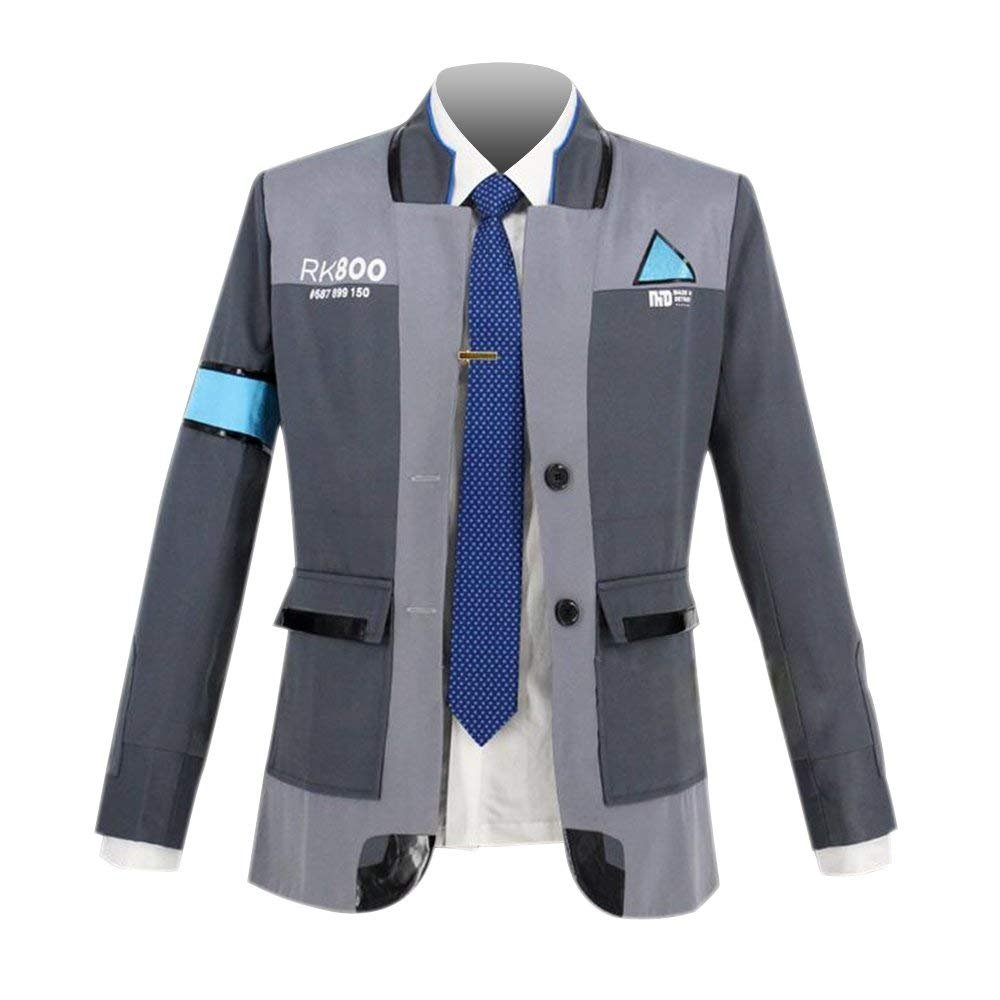 VOSTE Become Human Jacket Connor Costume Halloween Cosplay (Small, Full Set 2)