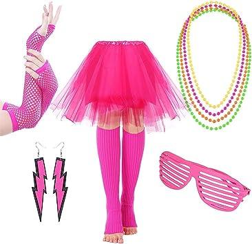 Accesorio de disfraz de la década de los años ochenta para mujer ...