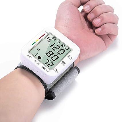 LJXiioo Brazo automático Monitor de presión Arterial Transmisión de Voz Alta presión Arterial Monitores Pantalla LCD