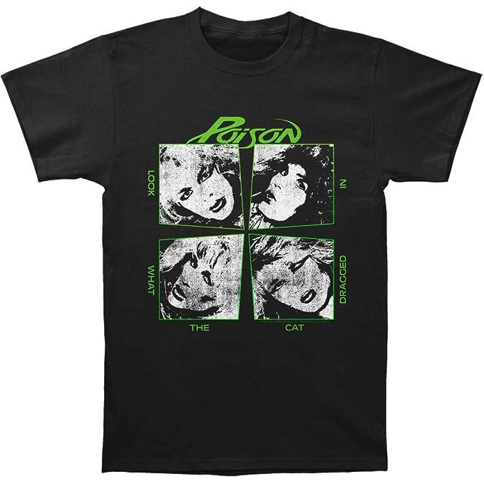 Veneno mira lo Que el Gato arrastrado en Sábana Bajera Ajustable Negro Camiseta de Jersey - Negro -: Amazon.es: Ropa y accesorios