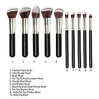 Generic Phenovo Makeup Brushes Set Tool Pro Foundation Eyeliner Eyeshadow (Black)