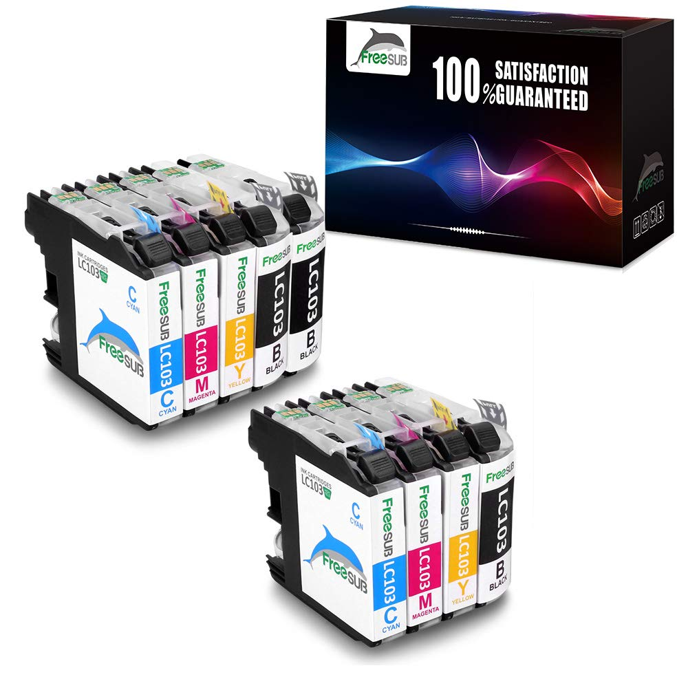 Cartuchos de tinta compatibles para Brother LC103 freesub uso con ...