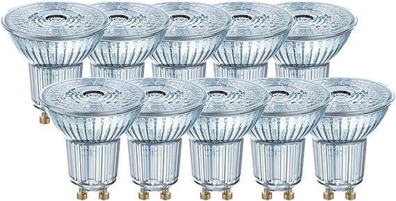 4000 Kelvin,4.3 Watts Kaltwei/ß 3er-Pack Ersetzt 50 Watt Osram LED Base PAR16 Reflektorlampe mit GU10-Sockel nicht dimmbar 36/° Ausstrahlungswinkel