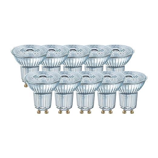Osram 036680 Bombilla LED GU10, 4.3 W, Blanco 10 Unidades