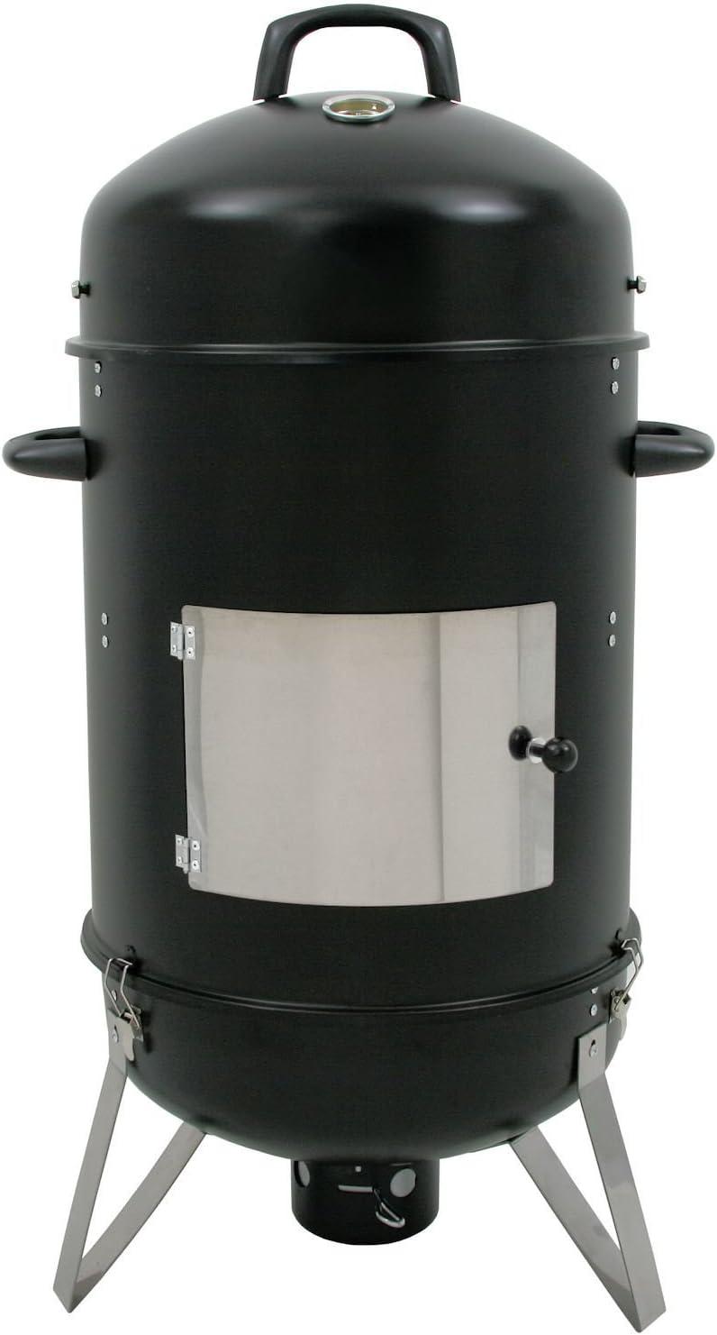 BBQ-Toro Hickory Ahumador XL, 46cm de diámetro, horno para ahumar, barbacoa de carbón, 107cm de alto