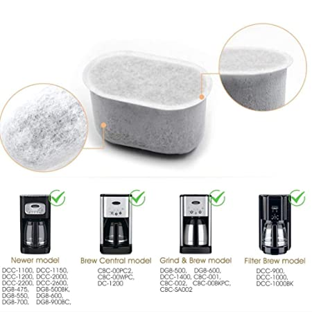WEISHAZI 2 filtros de agua de carbón para Breville cafetera ...