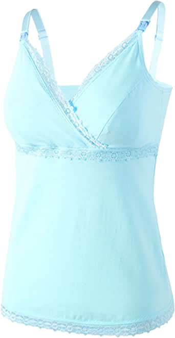 Legou Women's Lace Nursing Top Tank Camis