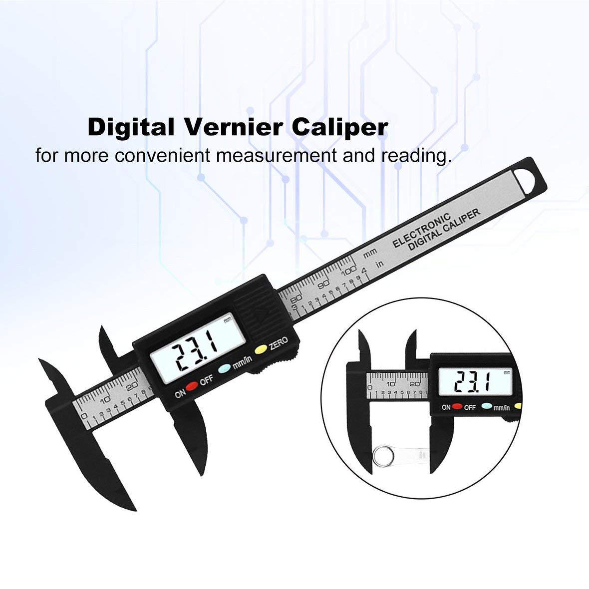 Mini Electronic Digital Caliper 0-100mm Messwerkzeug Digital Messschieber Mikrometer zur Schmuckmessung Schwarz