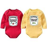 culbutomind - Body para bebé con la marca Yummz de tomate, ketchup o mostaza, para gemelos, unisex, de color rojo y…