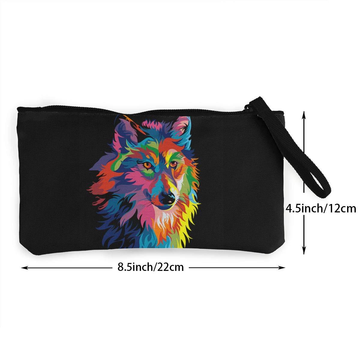 Serity Color Wolf - Monedero portátil de Lona para Mujer y ...