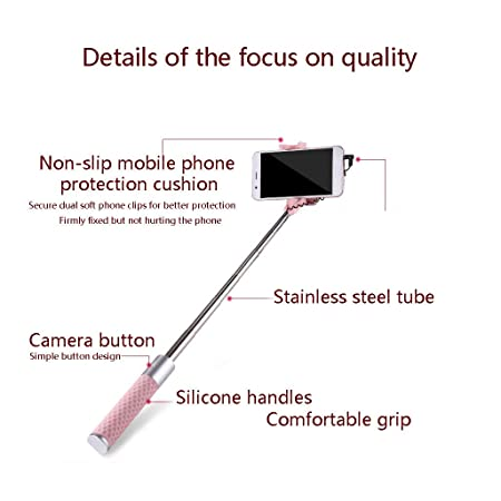 ZXLZKQ Palo Selfie Portátil Extensible Mini Selfie Stick [Sin Batería Sin Bluetooth] Selfie Stick para La mayoría Agujero Redondo Smartphone (Mint_Green): ...