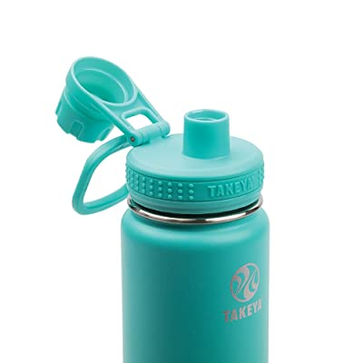 Takeya Insulated Stainless Water Bottle Insulated Spout Lid~18 oz~Pink//Teal