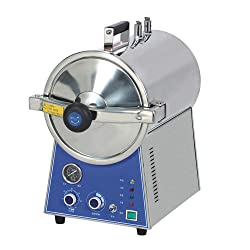 BONEW 24L Table Top Steam Dental Medical High Pressure Steam Autoclave Fully Stainless Steel